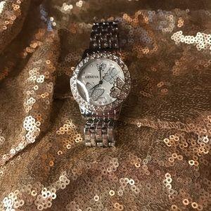 Beautiful Silver coated Geneva butterfly watch